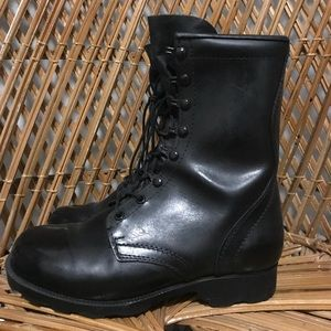 Vintage Genuine Leather Combat Moto Boots